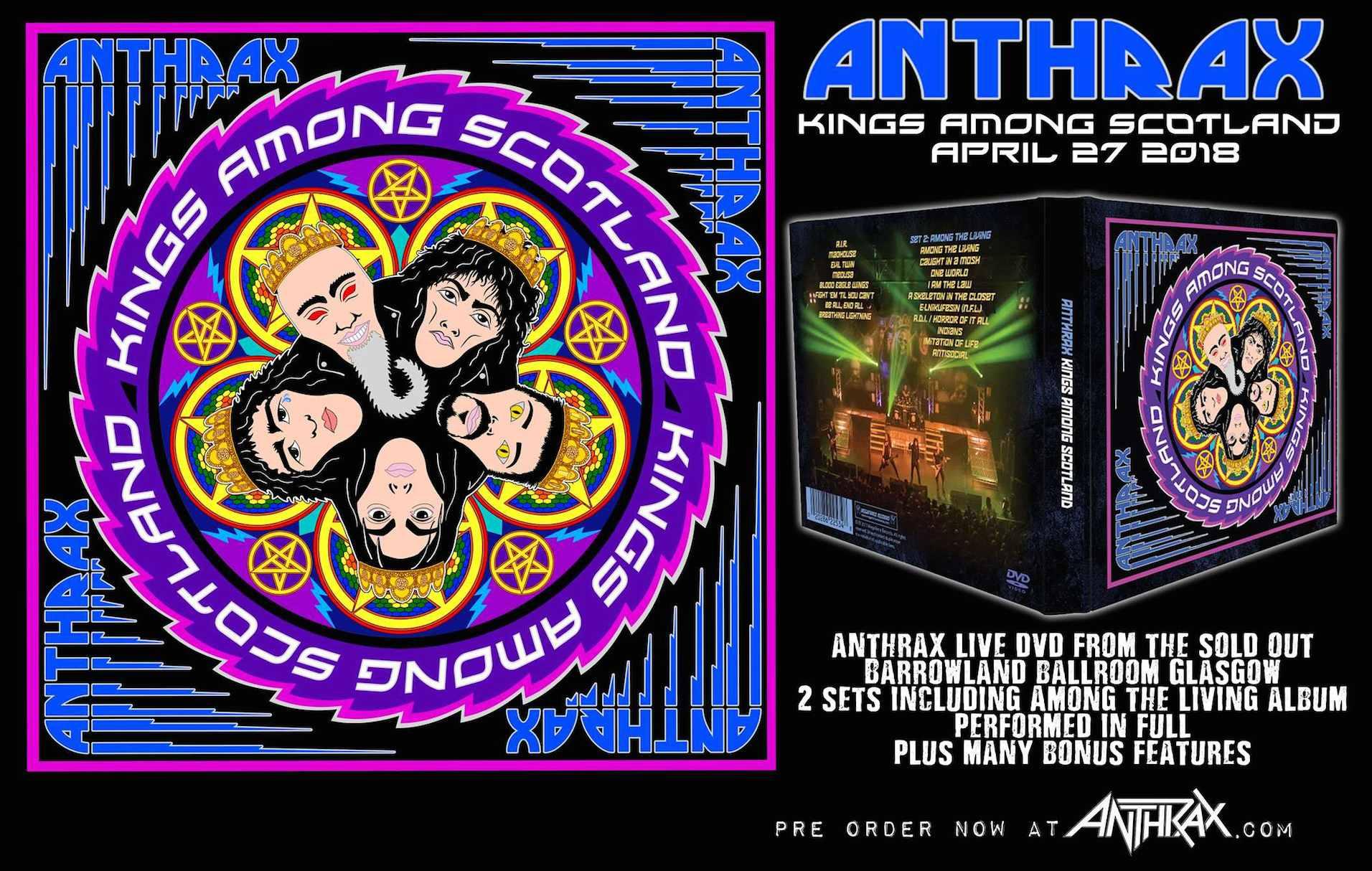 Chronique de l'album Kings Among Scotland - Anthrax - Art'n
